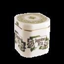 Чай черный с ароматом жасмина в фарфоровой банке